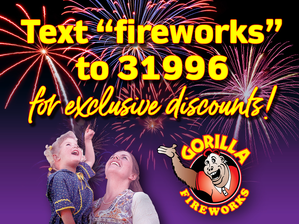 Welcome to Gorilla Fireworks!